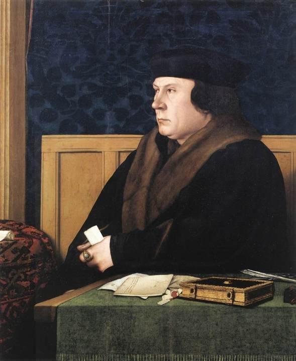 Susipalatsissa kuvataan, kuinka Hans Holbein maalaa tämän muotokuvan Thomas Cromwellista. (Kuva National Portrait Galleryn luvalla)