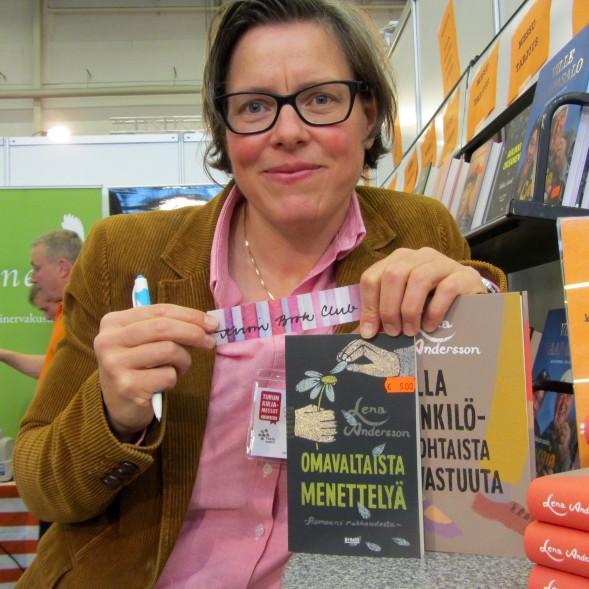 Lena Andersson Turun Kirjamessuilla 2015