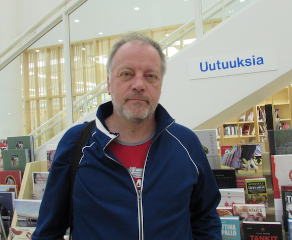 Matti Rönkä vieraili Lahden pääkirjastossa syyskuussa 2015