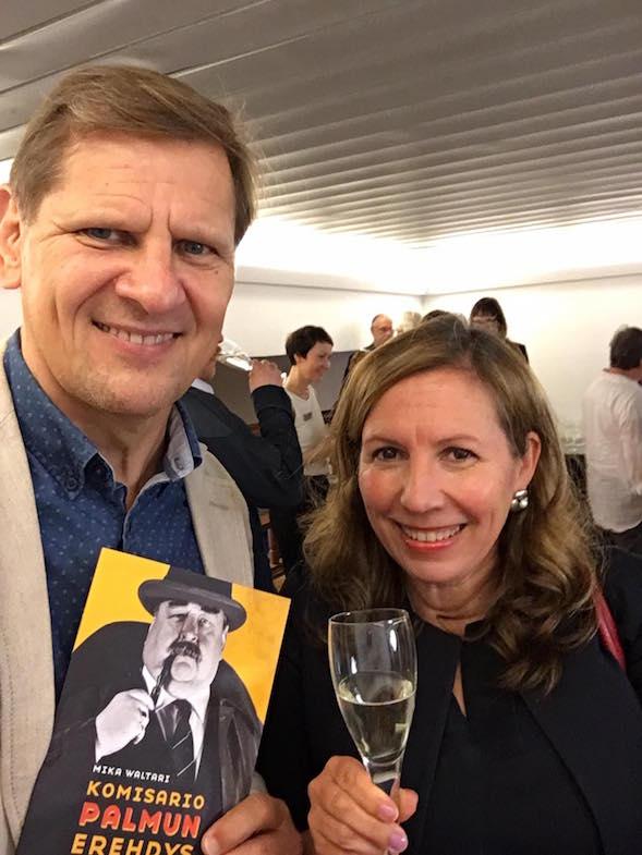 Martti ja Kirsi Ranin Komisario Palmun erehdys -näytelmän ensi-illassa 24.8.2016