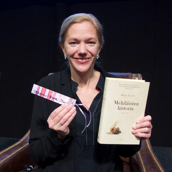 Maja Lunde vieraili Helsingin Kirjamessuilla 2016