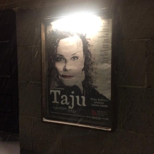 Kävin katsomassa Tajun lumisateisena iltana 12.1.2017